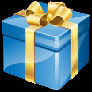 Icoon van een cadeautje met strik
