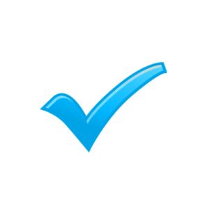 Icoon met V-teken van 'Check'
