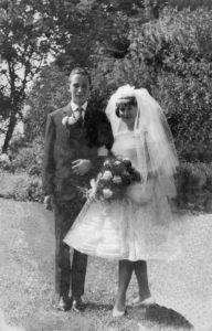 Gerestaureerde trouwfoto na de retouche